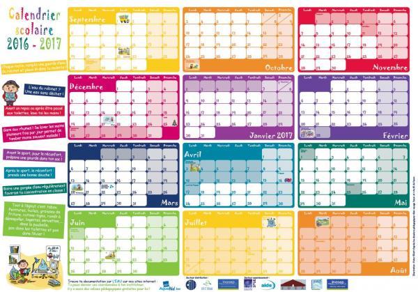 Gratuit - Un calendrier par classe - Format 80 x 60 cm - Dans la ...