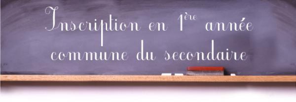 Séance d'information sur les inscriptions en 1ère année commune du secondaire