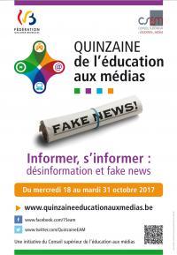 """Une table ronde sur """"les fake news"""" pour lancer la Quinzaine de l'éducation aux médias"""