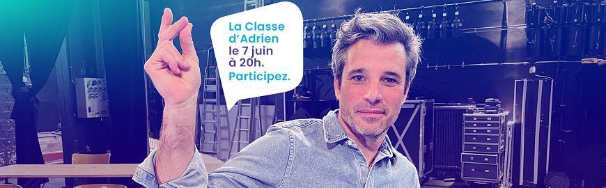 Participez à la Classe d'Adrien le 7 juin à 20h et posez vos questions sur la promotion sociale.