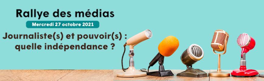 Le rallye des médias a lieu le mercredi 27 octobre 2021 durant l'après-midi.